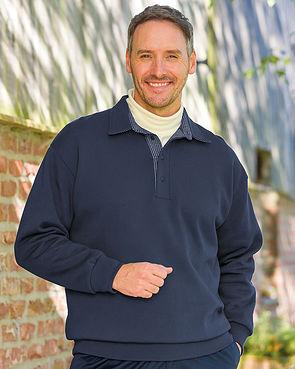 Trimmed Sweatshirt - Navy