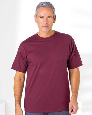 Crew Neck T Shirt - Burgundy