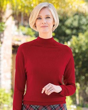 Merino Wool Turtle Neck Sweater - Red Spice