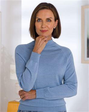 Merino Wool Turtle Neck Sweater