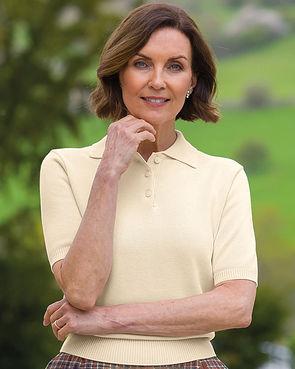Luxury Knit Ladies Polo Shirt