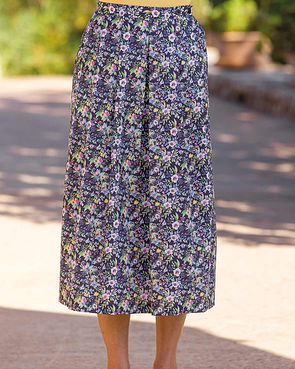Cynthia Floral Pure Cotton Skirt