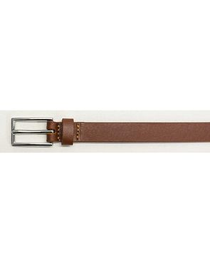 Narrow Leather Belts - Tan