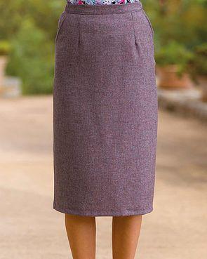 Algarve Pure Shetland Wool Straight Skirt