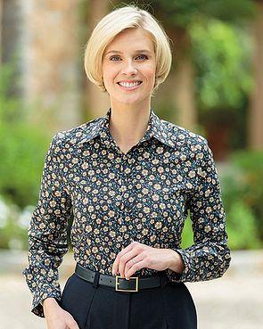 Anna Multi Coloured Pure Cotton Liberty  Blouse