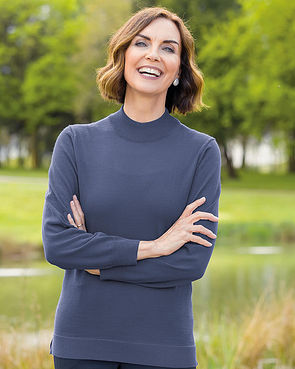 Ladies Turtle Neck Jumpers Keeping You Warm in the Garden