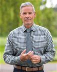 Perth Tattersall Check Cotton & Wool Shirt