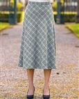 Cotswold Wool Blend Checked Skirt