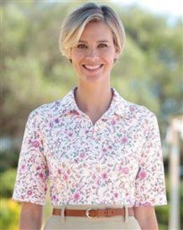 Nicole Multi Coloured Pure Cotton Polo