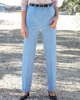 Sorrento Shetland Wool Blue Trousers