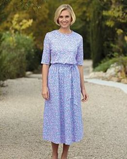 Marlene Multi Coloured Pure Silky Cotton Dress