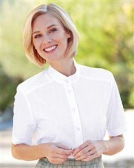 Erin Pure Cotton White Short Sleeved Blouse