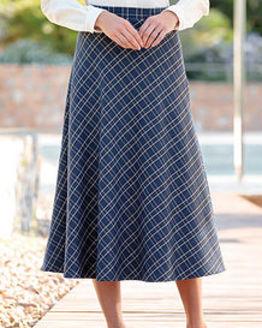 Amalfi Multi Coloured Wool Blend Skirt