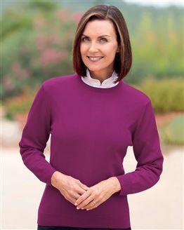 Merino Wool Crew Neck Sweater  Ladies