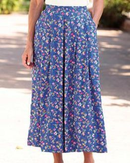Kimberley Floral Supersoft Viscose Skirt