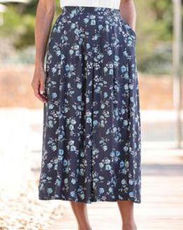 Emma Floral Supersoft Viscose Skirt