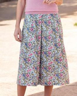 Jayne Floral Pure Cotton Skirt