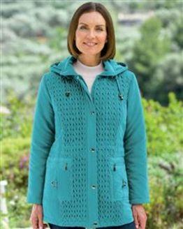 Teal Davina Coat