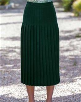 Corbridge Pure Wool Pleated Skirt