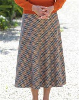 Helston Easycare Classic Check Skirt