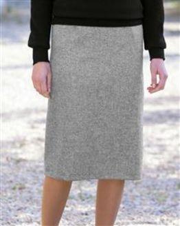 Truro Pure Shetland Wool Straight Skirt