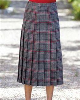 Bude Pure Wool Pleated Skirt