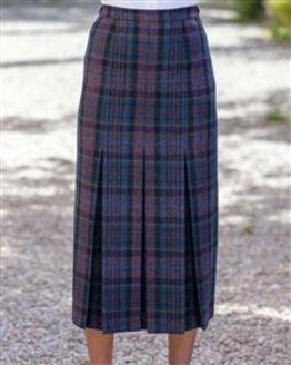 Hayle Pure Wool Pleated Skirt