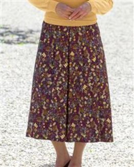 Kate Floral Supersoft Viscose Skirt