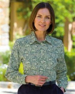Paige Pure Cotton Needlecord Patterned Blouse