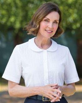 Tina Polycotton White Blouse