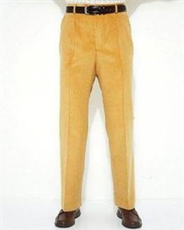 Sand Needlecord Trousers  Mens
