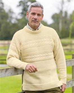 Ecru Guernsey Sweater Mens