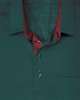 Green Pure Cotton Short Sleeve Polo Shirt