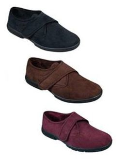 DB Wider Fit Velcro Strap House Shoes