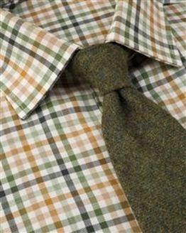 Ascot Tattersall Check Cotton & Wool Shirt