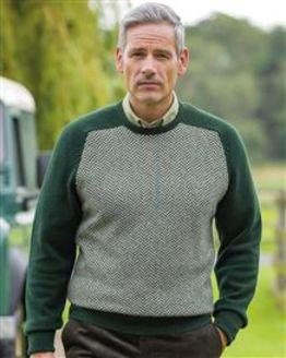 Herringbone Conifer Lambswool Sweater