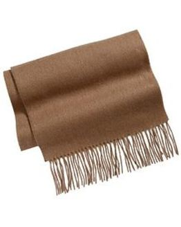 Camel Pure Lambswool Scarf