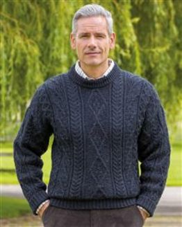 Indigo Aran Sweater