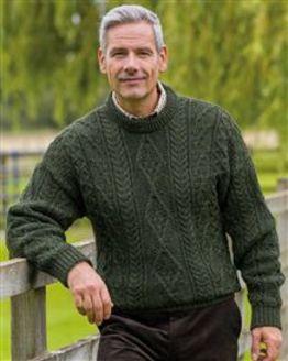 Loden Aran Sweater