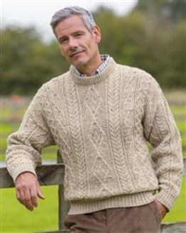 Oatmeal Aran Sweater