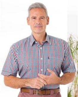 Polycotton Short Sleeved Checked Shirt