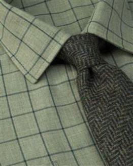 Chester Tattersall Check Cotton & Wool Shirt
