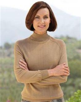 Merino Wool Toffee Turtle Neck Sweater