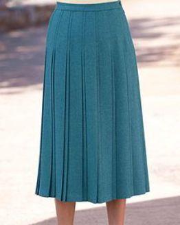 Naples Pure Wool Pleated Skirt