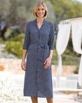 Ingrid Patterned Viscose Dress