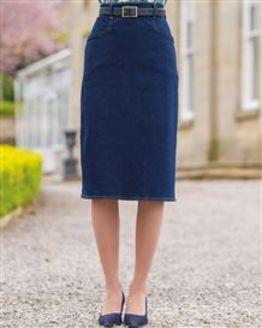 Denim Straight Skirt