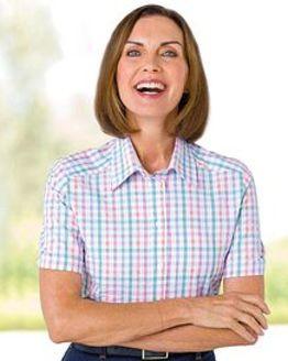 Collette Checked Pure Cotton Blouse