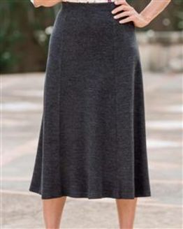 Wool Blend Pull on Skirts