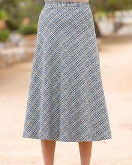 Madeira Wool Blend Checked Skirt
