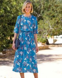 Demi Floral Pure Silky Cotton Dress